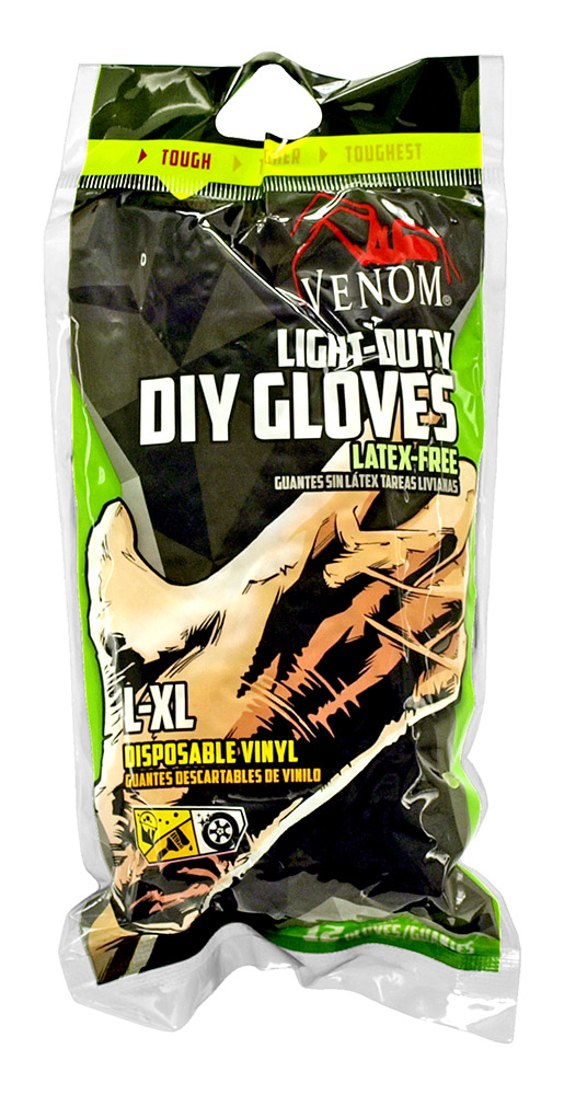 Venom Light-Duty DIY Gloves - Large-Extra Large