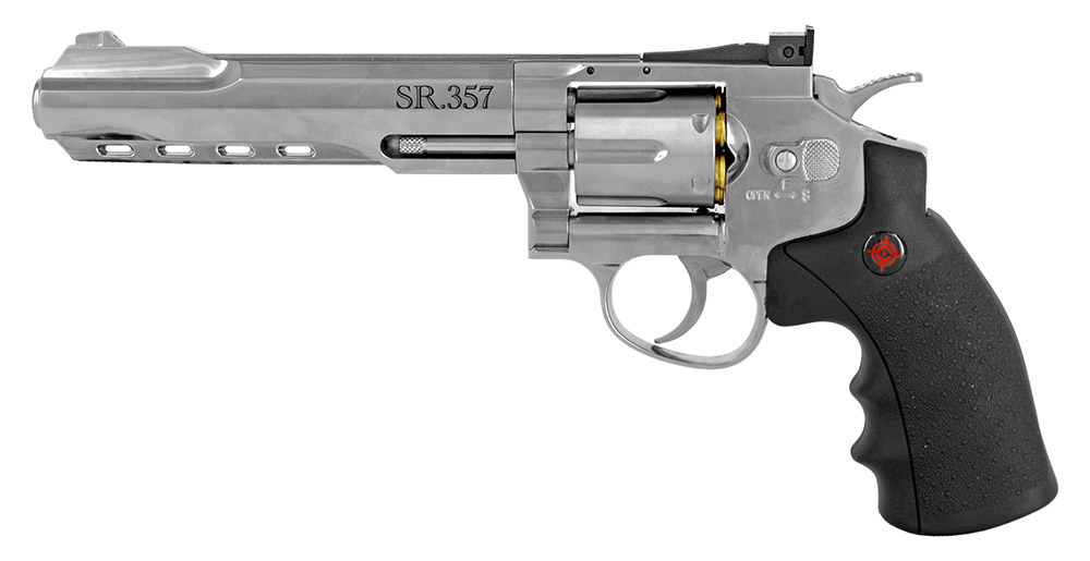 Crosman 4.5mm CO2 Powered Revolver BB Gun (Remanufactured)