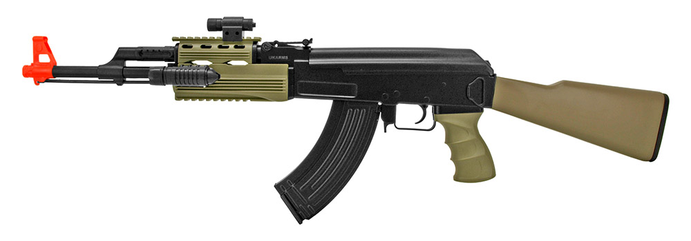 UKARMS AK47 Electric Powered Airsoft Rifle Set
