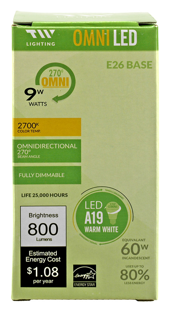 A19 LED Light Bulb - 8000 Lumens - 2700k