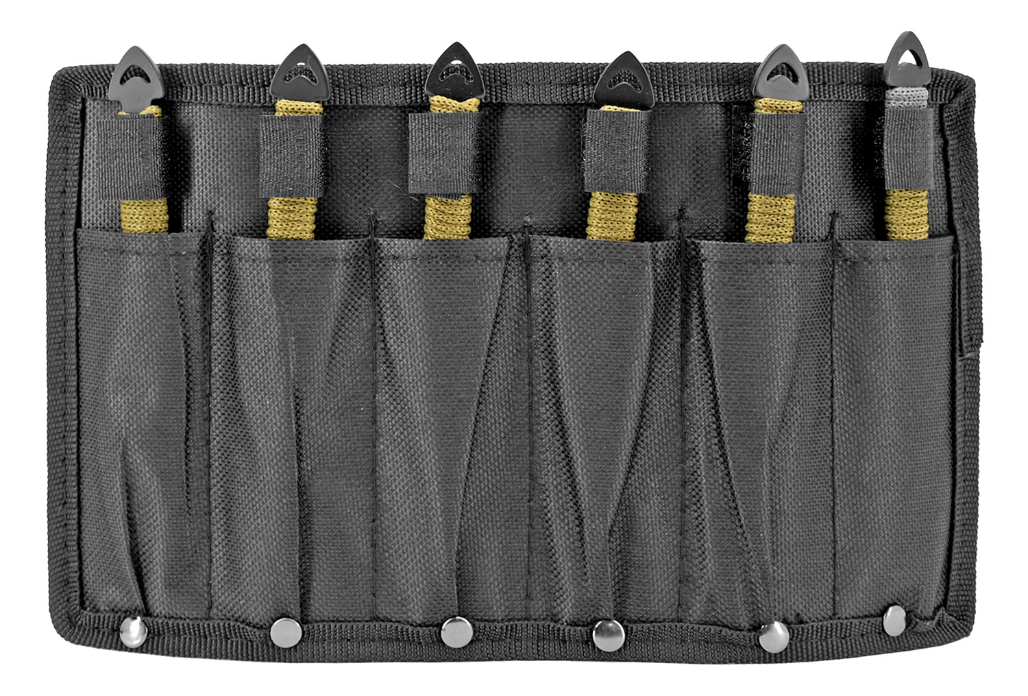 6 - pc. Throwing Knife Set - Olive Green and Black