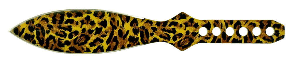 3-pc. Tear Drop Throwing Knife Set - Cheetah Print