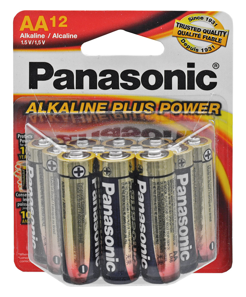 12-pc. Panasonic Alkaline  inAA in Batteries