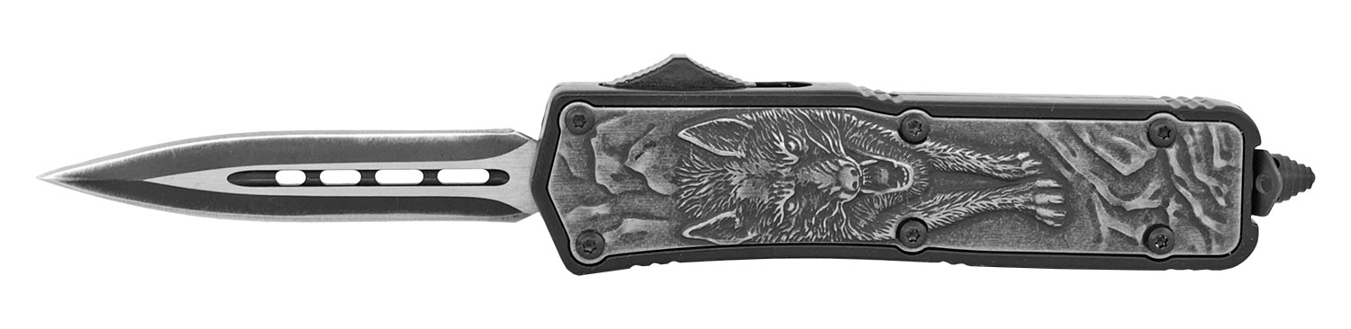 3.75 in  Wildlife Out the Front Pocket Knife - Wolf