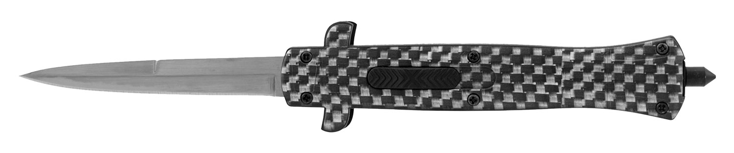 5.25 in Stiletto Out the Front Tactical Pocket Knife - Carbon Fiber