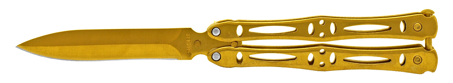 4.75 in Stainless Steel Butterfly Knife - Golden
