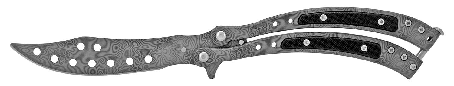 5.38 in Ergonomic Butterfly Knife - Gun Metal