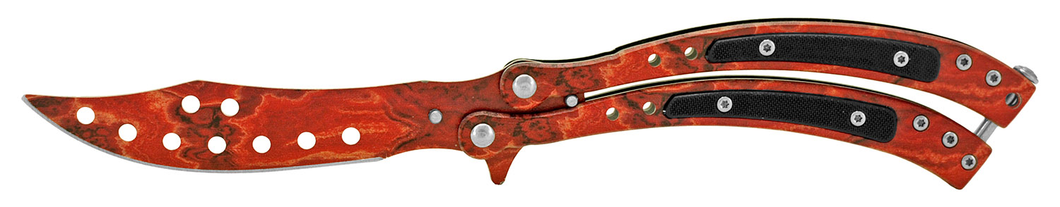 5.38 in Ergonomic Butterfly Knife - Red