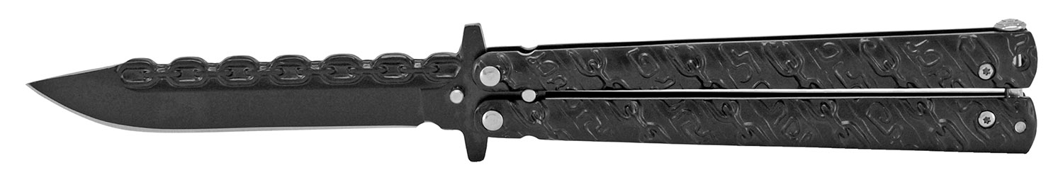 4.88 in Chain Gang Butterfly Knife - Black