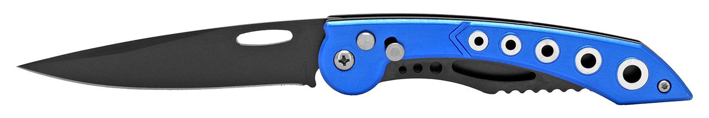 4.75 in Ergonomic Switchblade - Metallic Blue