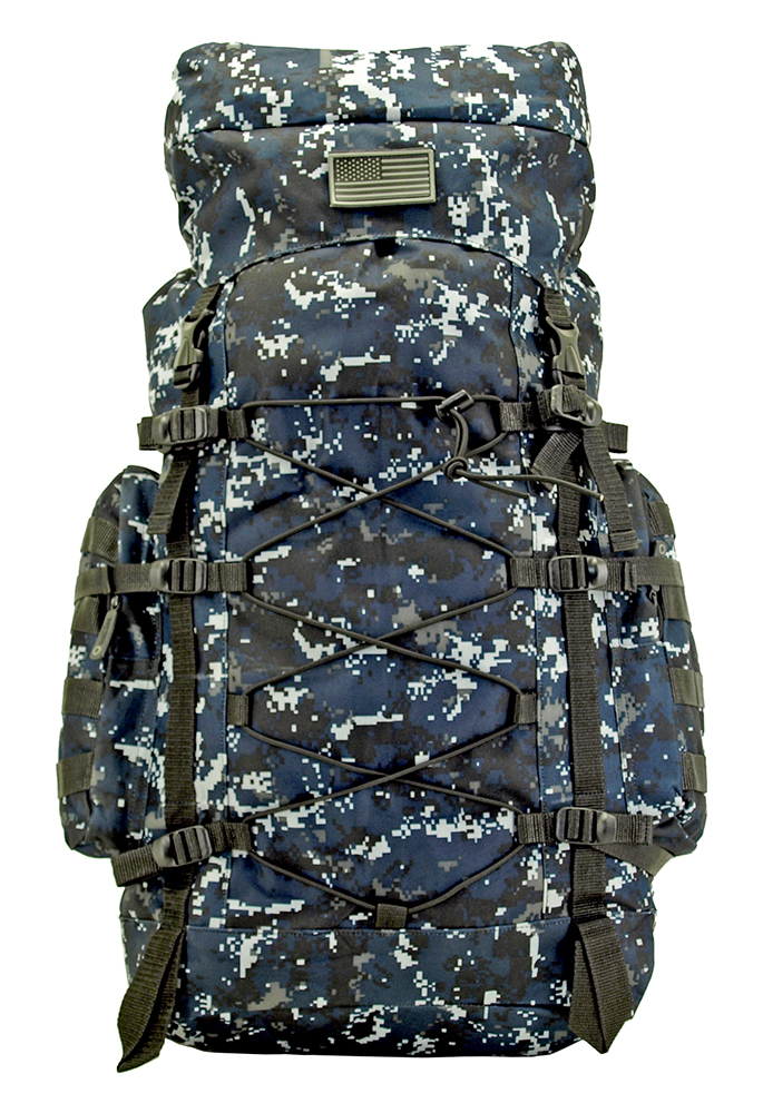 The Washington Hiking Pack - Blue Digital Camo