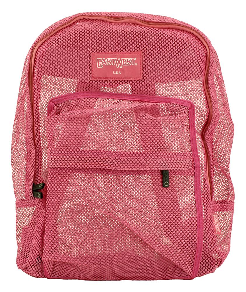Beach Bag Backpack - Hot Pink