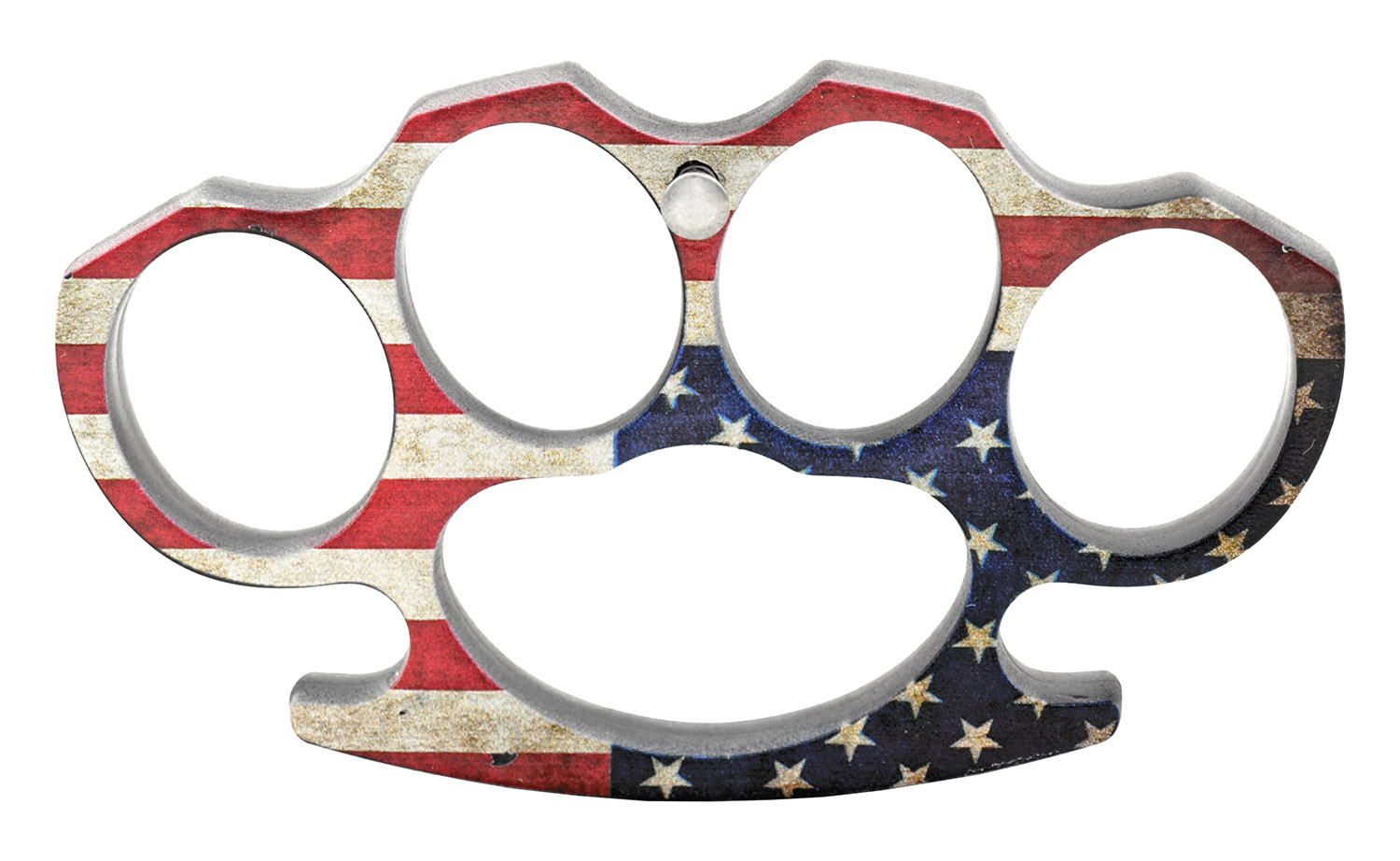 Plastic Knuckle Duster Belt Buckle with Prong Attachment - US Flag