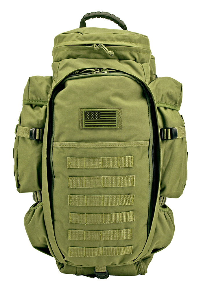 East West 9.11 Tactical Full Gear Rifle Backpack - Olive Green