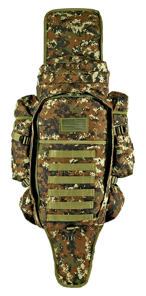 East West 9.11 Tactical Full Gear Rifle Combo Backpack - Green Digital Camo