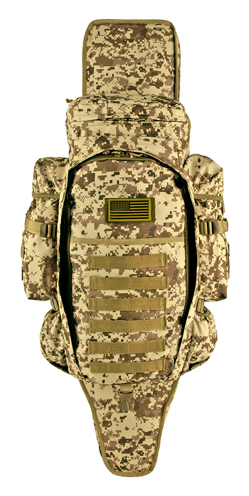 East West 9.11 Tactical Full Gear Rifle Combo Backpack - Desert Digital Camo