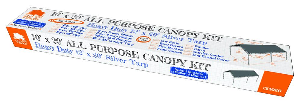 Lost Woods 10x20 Canopy kit w/ 12x20 Tarp  sc 1 st  DP u0026 Company INC & Woods 10x20 Canopy kit w/ 12x20 Tarp