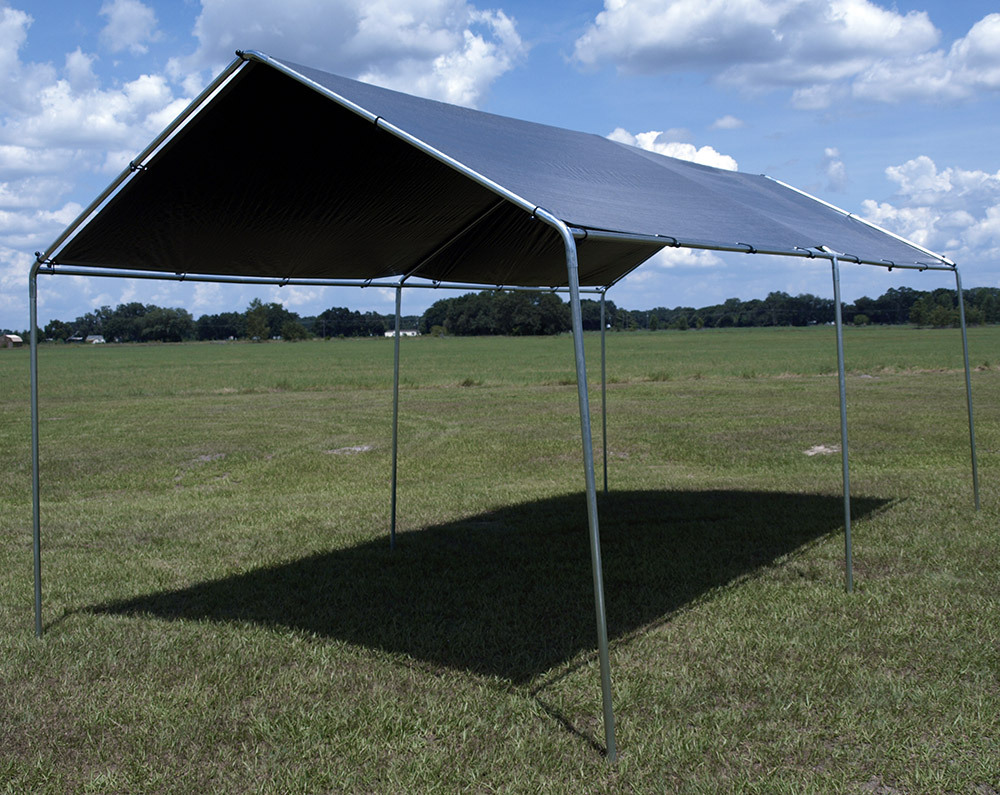 Lost Woods 10x20 Canopy kit w/ 12x20 Tarp & Woods 10x20 Canopy kit w/ 12x20 Tarp