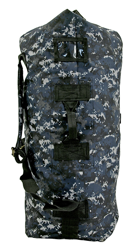 Military Duffle - Blue Digital Camo