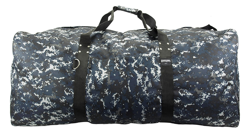 Extra Large Duffle Bag - Blue Digital Camo