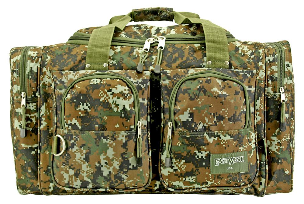 Camping Duffle Bag - Green Digital Camo