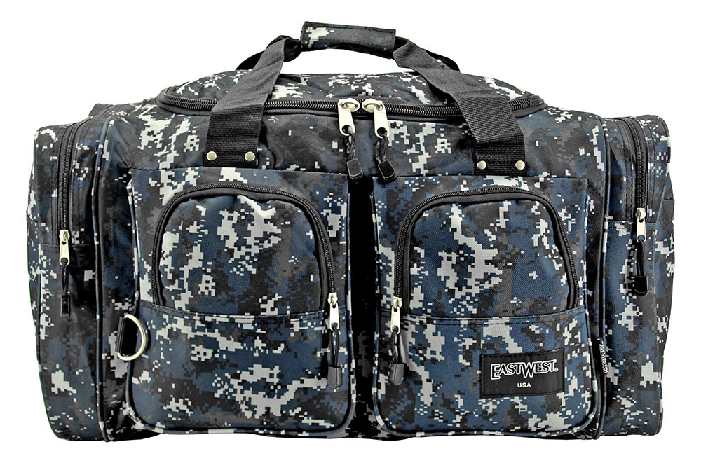 5ff801105df1 Camping Duffle Bag - Blue Digital Camo. Click to enlarge ...