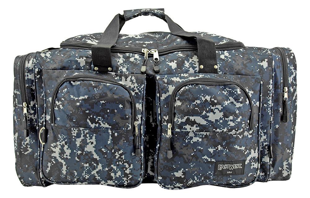 Camping Duffle Bag Medium - Blue Digital Camo