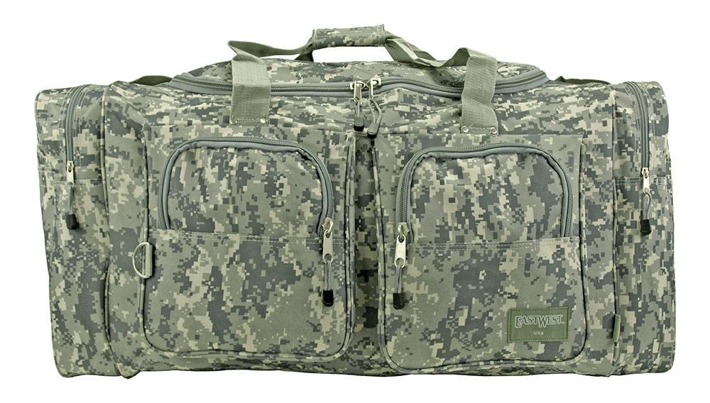 Camping Duffle Bag Large - Digital Camo