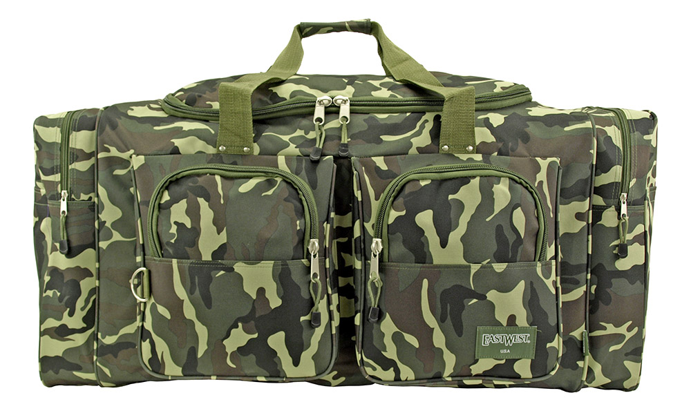 Camping Duffle Bag Large - Green Camo