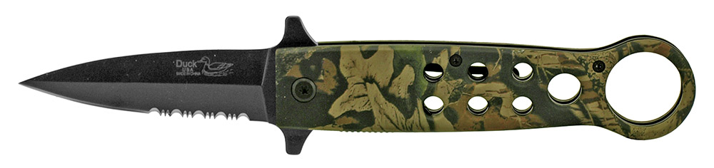 5 in Spring Assisted Tactical Knife - Woodland Camo