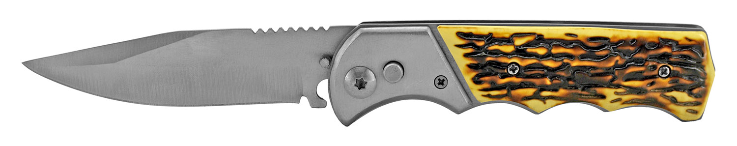 4.5 in Switchblade Folding Knife - Bone