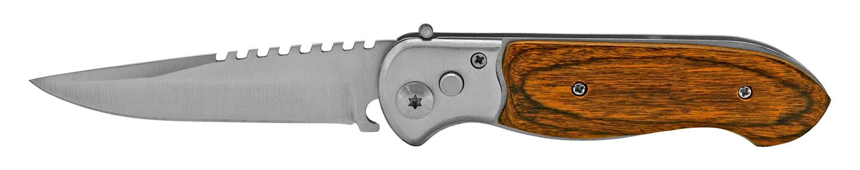 4.5 in Switchblade Folding Pocket Knife - Wooden