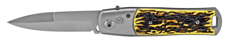 4.5 in Switchblade Pocket Knife - Bone