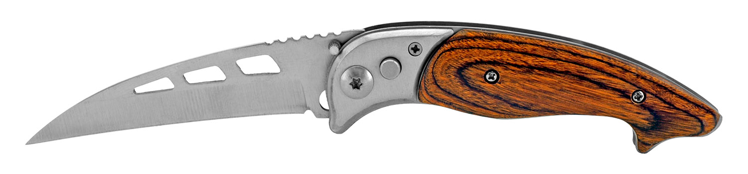 4.5 in Switchblade Pocket Folding Knife - Wooden