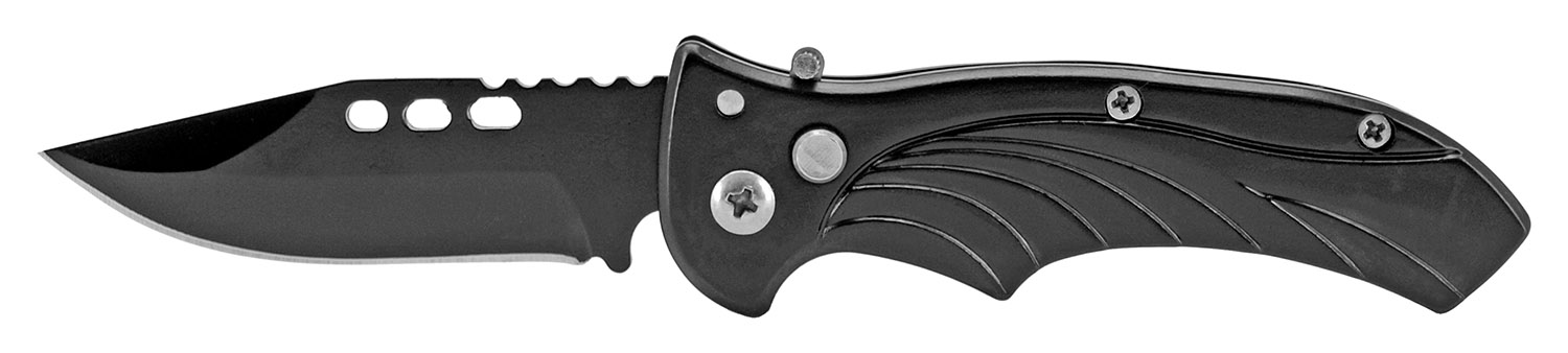 3.75 in Stainless Steel Switchblade - Black
