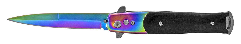 4.75 in Push Button Switchblade Pocket Knife - Titanium