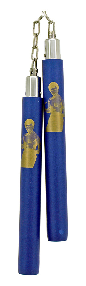 Ninja Toy with Chain Attachment (Bruce Lee) - Blue