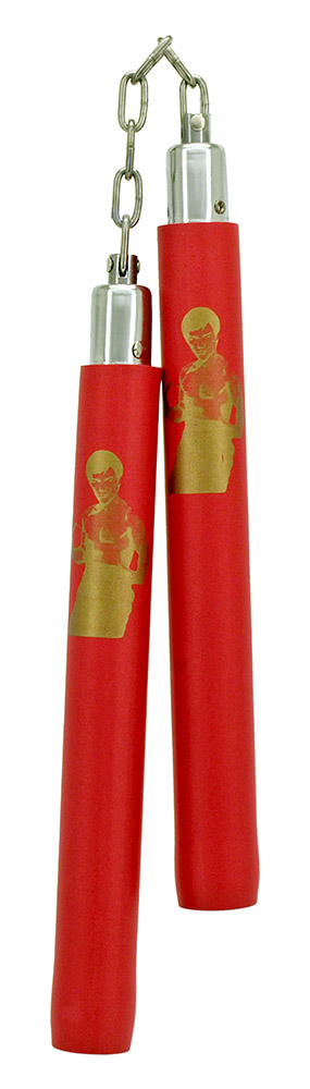 Ninja Toy with Chain Attachment (Bruce Lee) - Red
