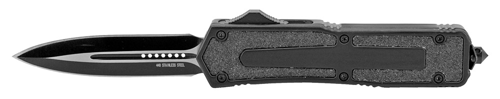 4.75 in OTF Knife - Black Teardrop