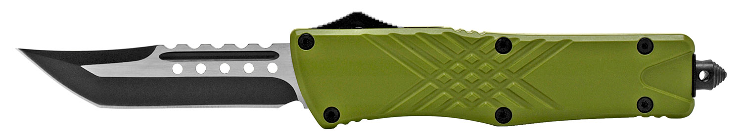5.5 in Stainless Steel Out the Front Knife - Green