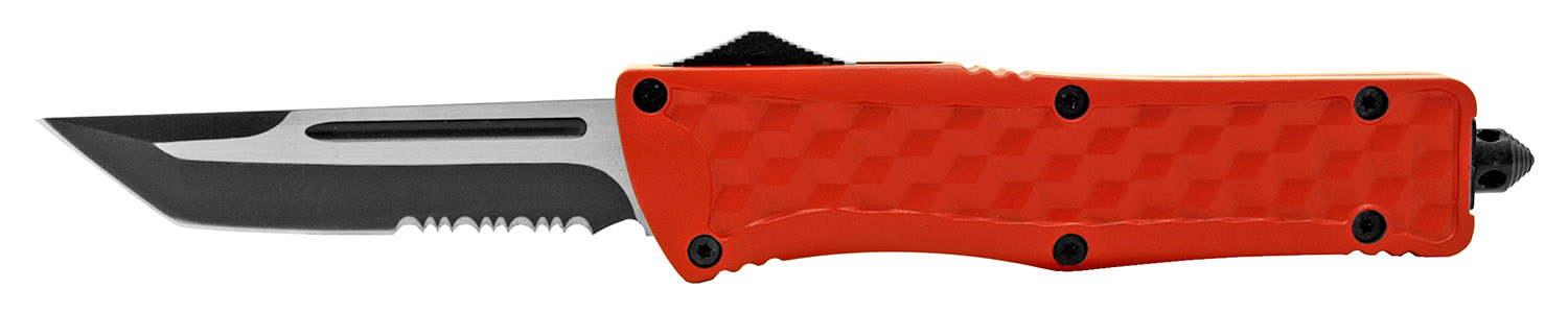 5.5 in Heavy Duty Out the Front Knife - Red
