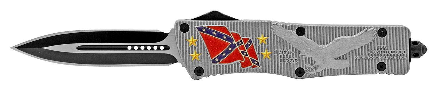 5.5 in Heavy Duty Out the Front Knife - Confederate States