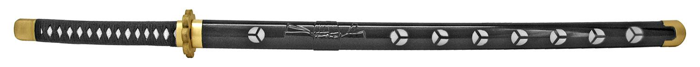 40 in Foam Samurai Sword with Radial Tsuba - Black