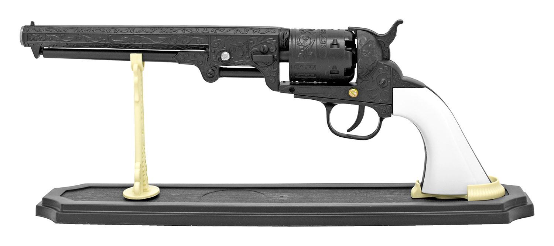 Western Metal Six Shooter Pistol - Black