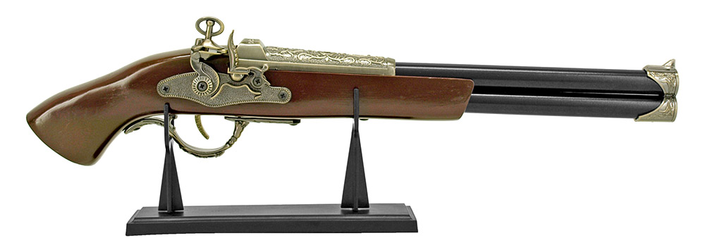 Double Barrel Flintlock Pirate Pistol