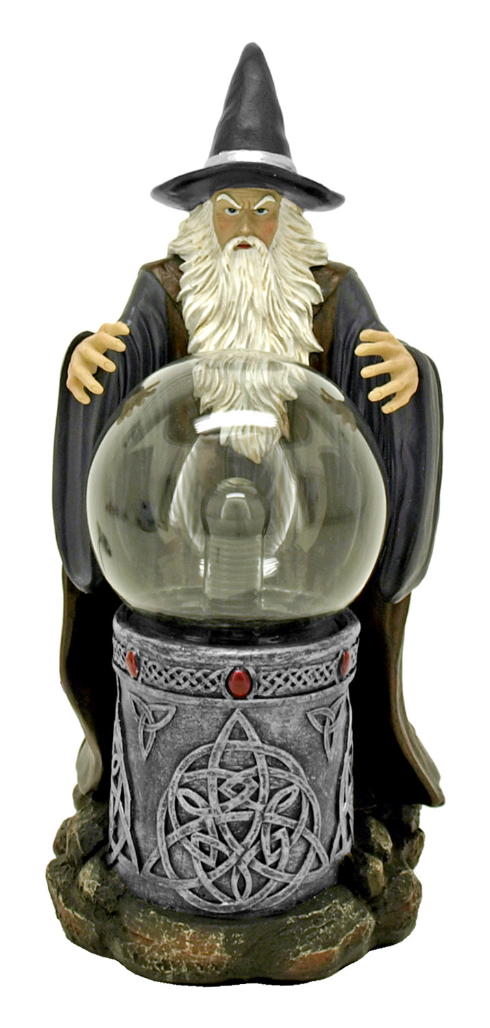 Spellcaster - Wizard Statue with Light