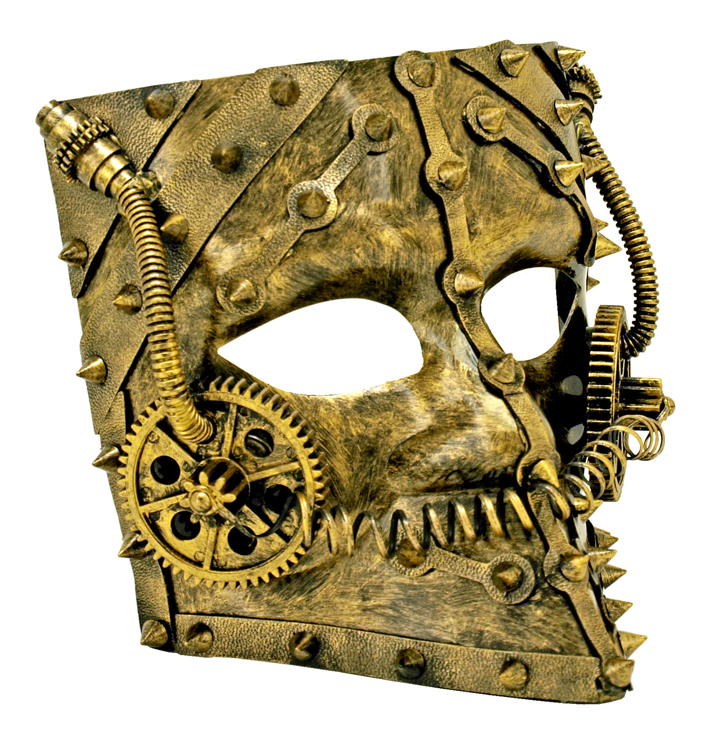 Steampunk Full Face Mask - Gold