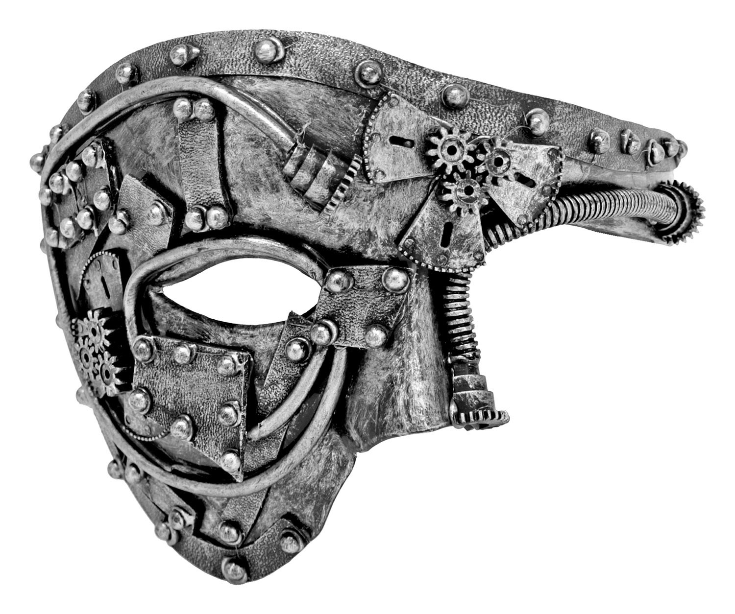 Steampunk Eyes Wide Open Mask - Silver