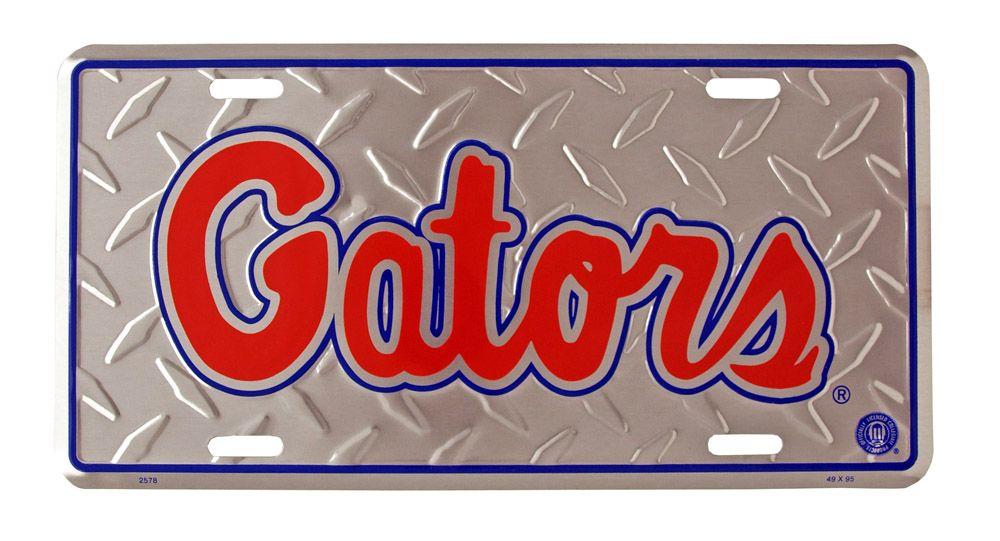 Florida Gators Tin License Plate