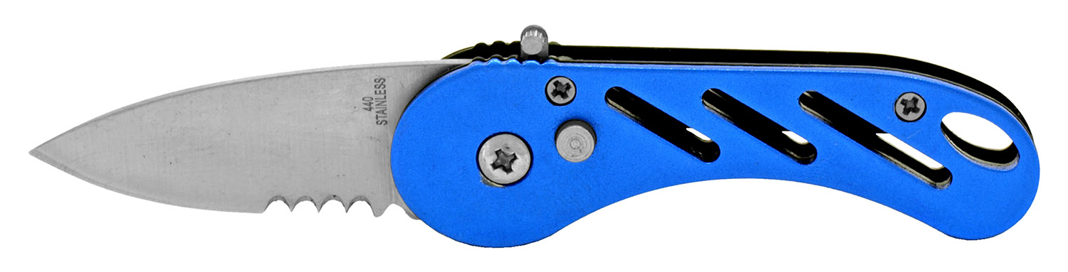 3.25 in Stainless Steel Folding Knife - Blue